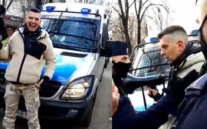 Armand Wyprowadza Policję z parku w Katowicach