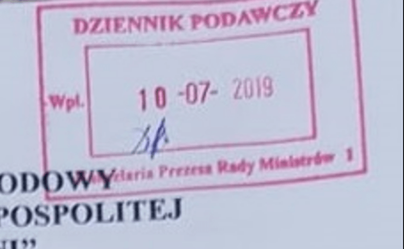Żądania z dnia 10.07.2019 roku skierowane do Mateusza Morawieckiego
