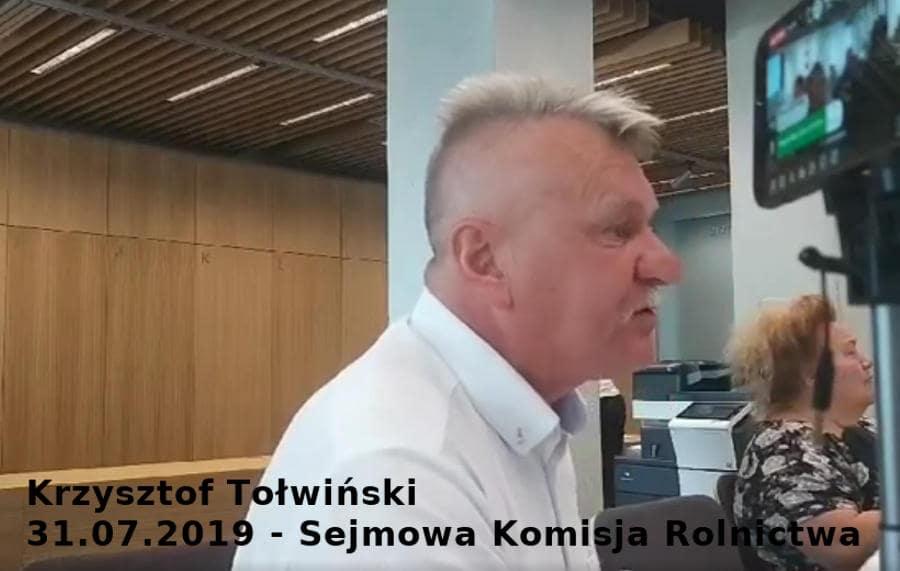Sejmowa Komisja Rolnictwa 31.07.2019
