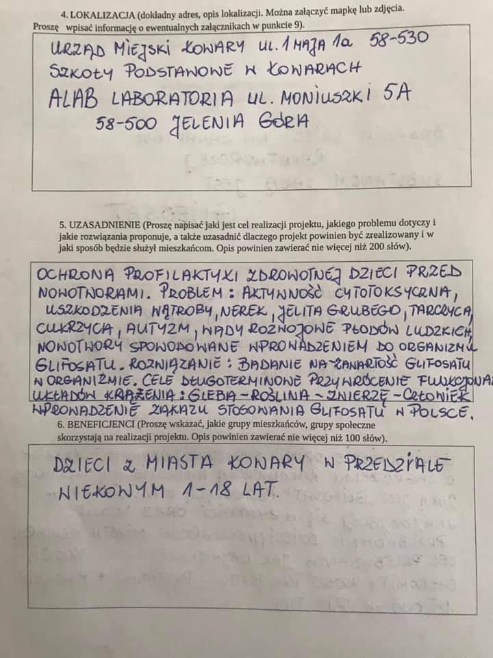 Budżet obywatelski Kowary - propozycja